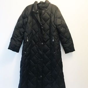 Hilary Radley Long Puffer Trench Coat